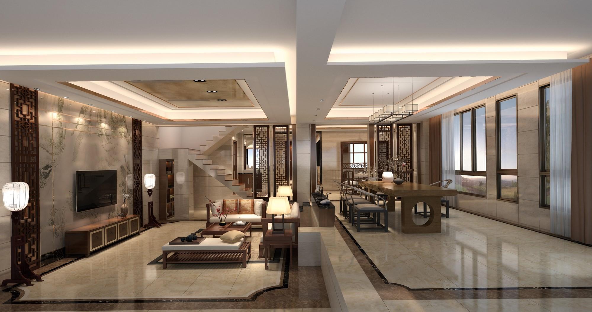 带有私家花园的独栋别墅,这个新东风建筑风格的居所里设置有2个大套间